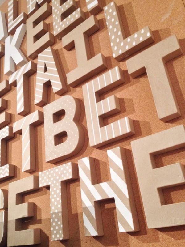 everyday letters: taking shape at moo // union jack creative