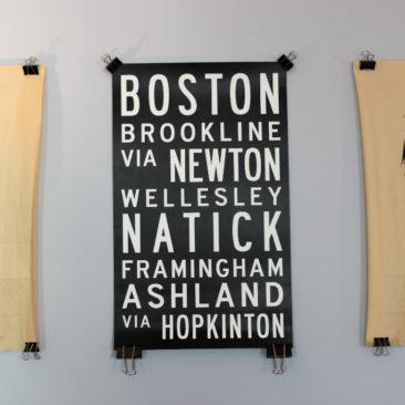Boston Marathon Bus Roll Poster