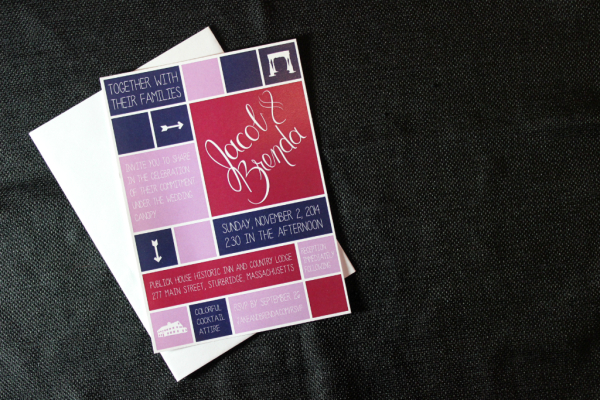 custom wedding invitations: brenda + jake // union jack creative