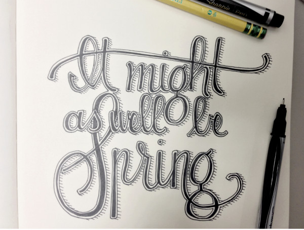it might as well be spring hand-lettering // union jack creative