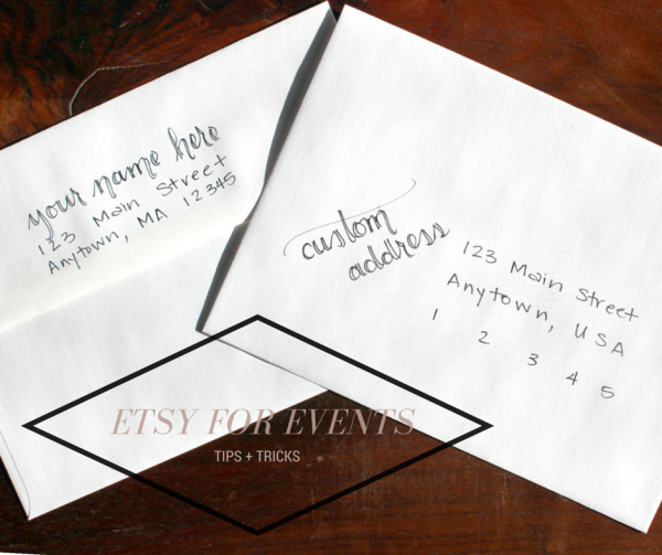etsy for events: custom envelope lettering and addressing // union jack creative